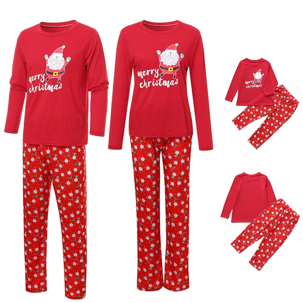 Đồ ngủ pijama gia đình hình ông già Noel cho mẹ và bé