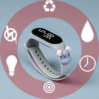 Đồng hồ thông minh chống thấm nước có đèn LED phong cách thể thao cho bé
