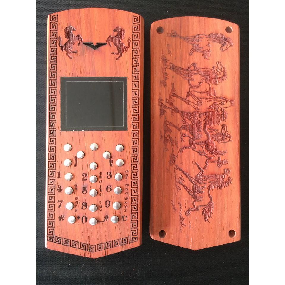 Vỏ gỗ cho điện thoại Nokia 1200, 1208, 1209 mẫu Mã đáo thành công