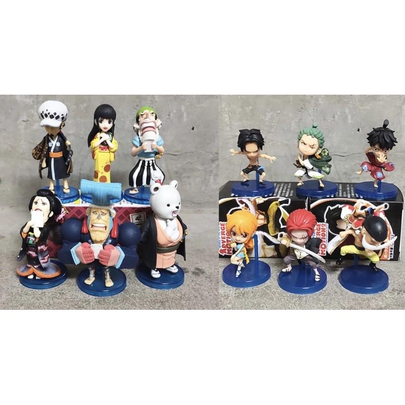 Mô hình chibi WCF các nhân vật onepiece (Luffy, zoro, nami, usopp, nicorobin, franky, law, gấu bepo, râu trắng…)
