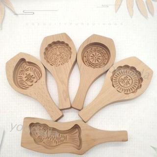 Khuôn Làm Bánh Trung Thu Bằng Gỗ Hình Bánh Trung Thu 3d