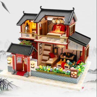 Mô hình nhà gỗ búp bê Dollhouse DIY – Kèm Mica – M905 Auspicious Sign Loft