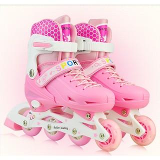 Giày trượt Patin Sports hồng Size M cho bé từ 6 đến 11 tuổi