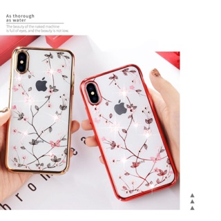 ỐP iphone X hoa văn đính đá chất lượng cao ( Giá Sỉ ) thumbnail