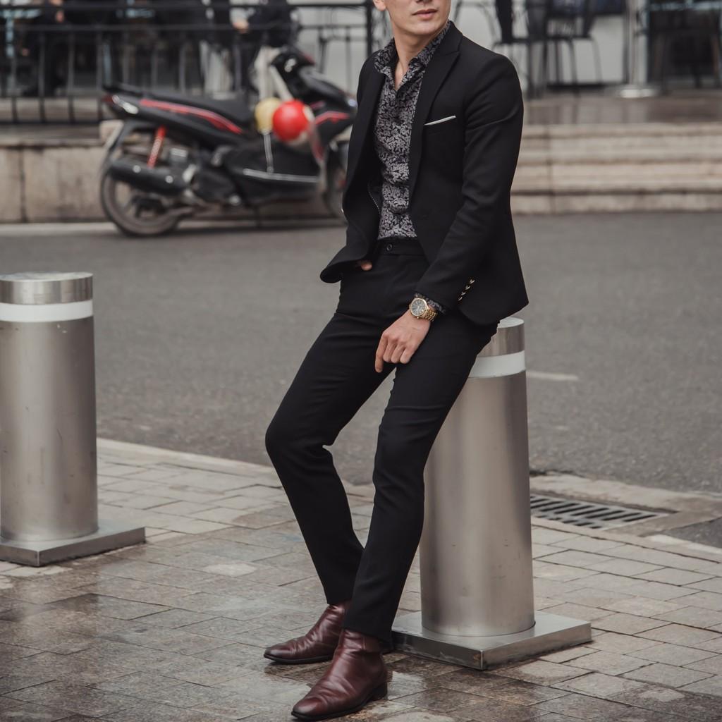 Áo Vest nam Hàn Quốc Edana Menswear cao cấp không nhăn , không xù cho người 45 - 78 kg [ Mua Áo Tặng Quần ]