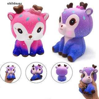 xGalaxy Cute Deer Squishy Slow Rising Kids Adults Squeeze Toys Stress Relieveru H717 yiyi