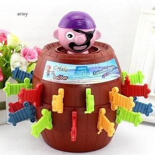 ♞Kids Children Funny Gift Lucky Stab Pop Up Toy Gadget Pirate Barrel Game Toy