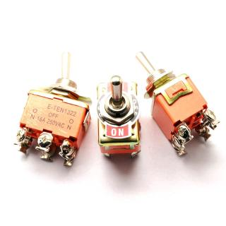 5pcs Toggle Switch E-TEN1322 15A/250V 6 Pin ON-OFF-ON Switch