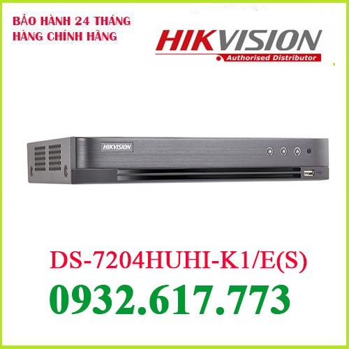Đầu ghi hình Hybrid TVI-IP 4 kênh TURBO 4.0 HIKVISION DS-7204HUHI-K1/E(S)