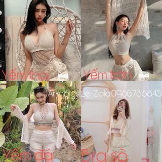 Áo yếm bikini bra đi biển BIGSIZE 55-85kg thumbnail