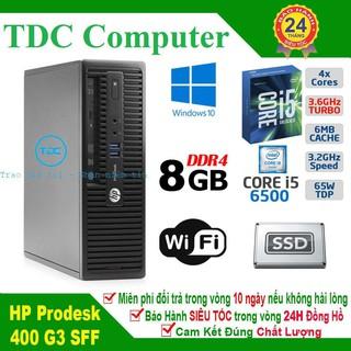 Case máy tính để bàn HP ProDesk 400 G3 SFF main H110, cpu core i5 6500, ram 8GB, SSD 120GB. Hàng Nhập Khẩu.