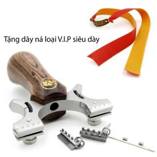 01 Ná inox SS304L hàng cao cấp cán gỗ cầm đầm tay – Ná cao su dây dẹp mẫu #39 – JosPha
