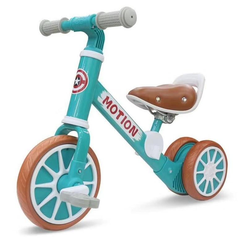 Xe chòi chân thăng bằng cho bé MOTION, có bàn đạp 2in1 yên bằng da - Hàng chính hãng