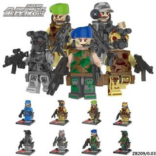 mô hình lăp ghép lepin-bộ 8 lính bô binh