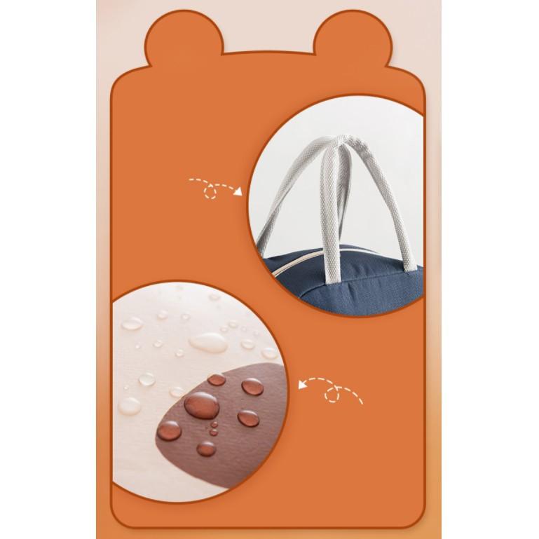 Mẫu Mới  Túi Giữ Nhiệt đựng hộp cơm, đồ ăn chống nước in họa tiết hoạt hình dễ thương