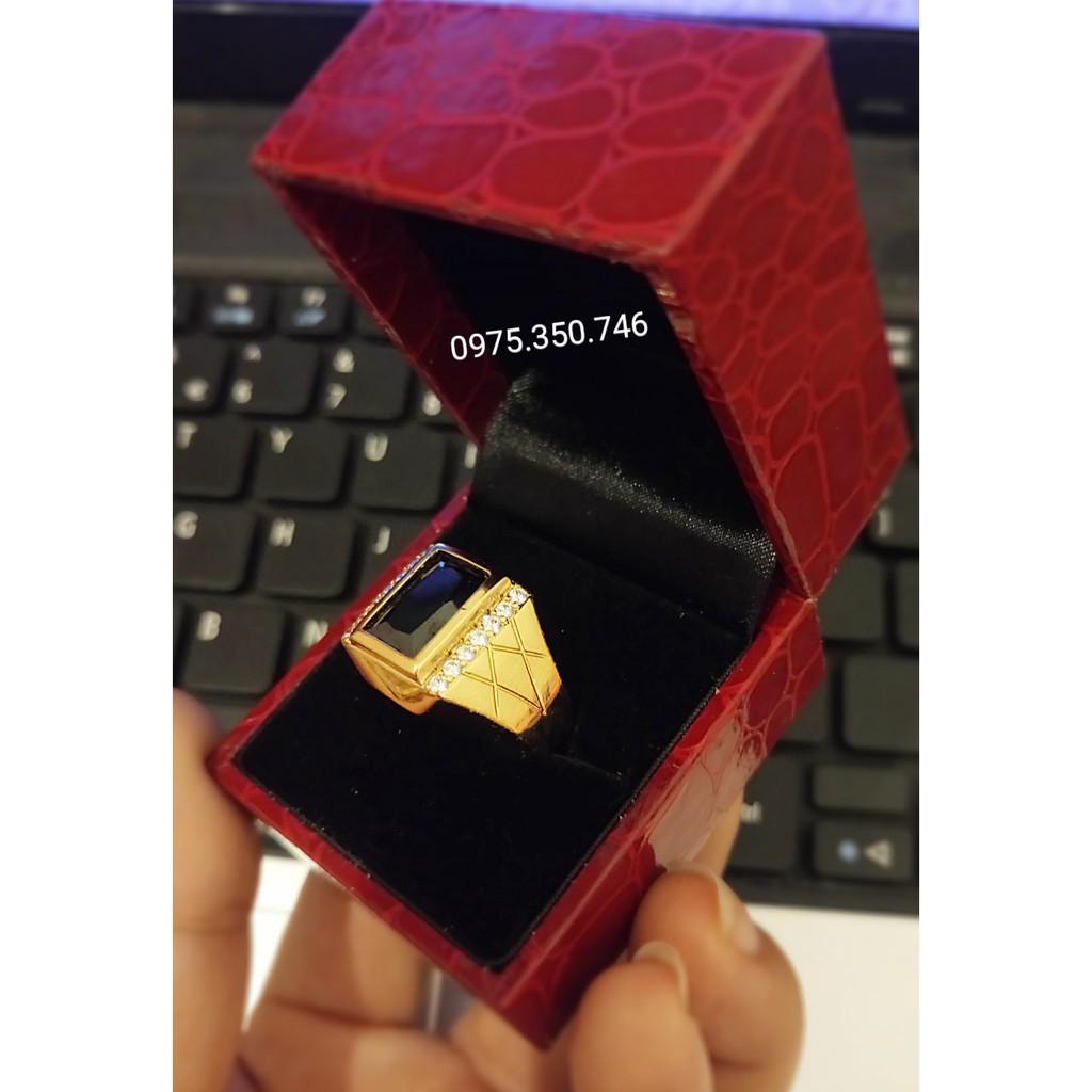 nhẫn caro mạ vàng tây bảo hành