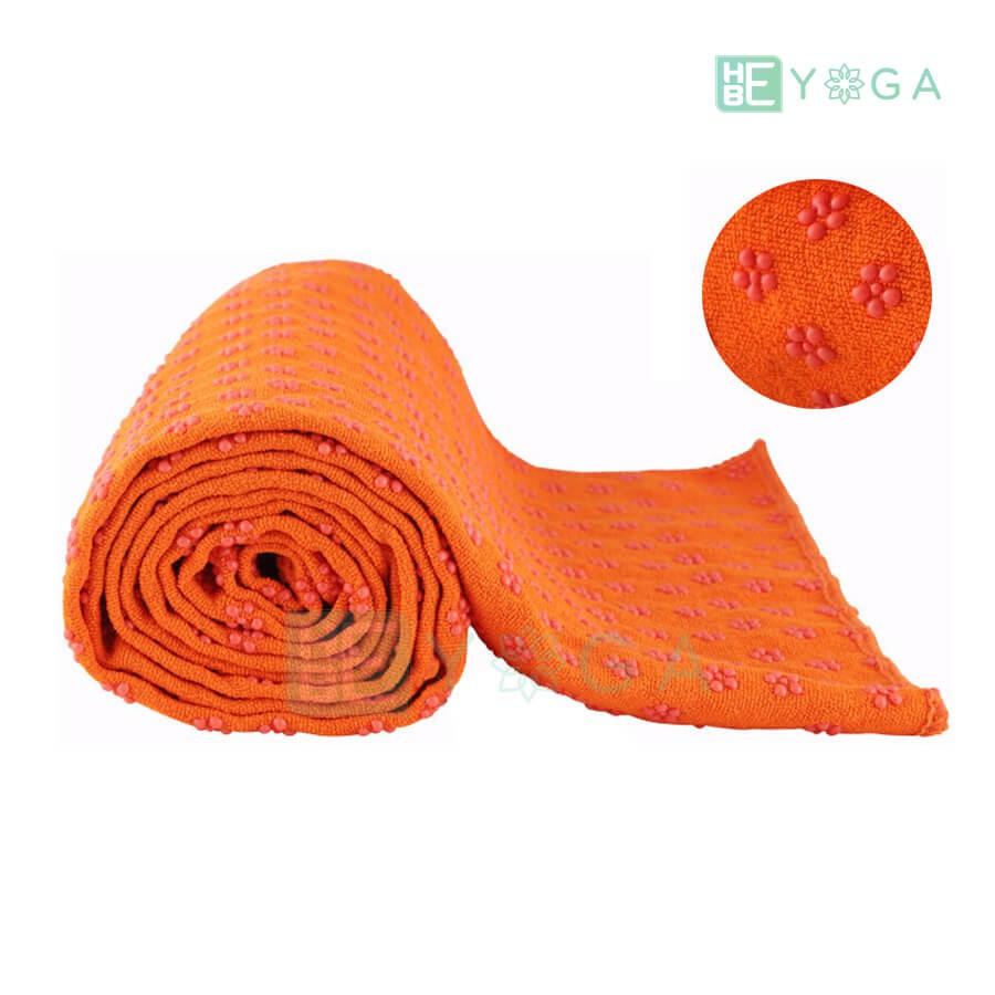 Khăn trải thảm yoga - màu cam