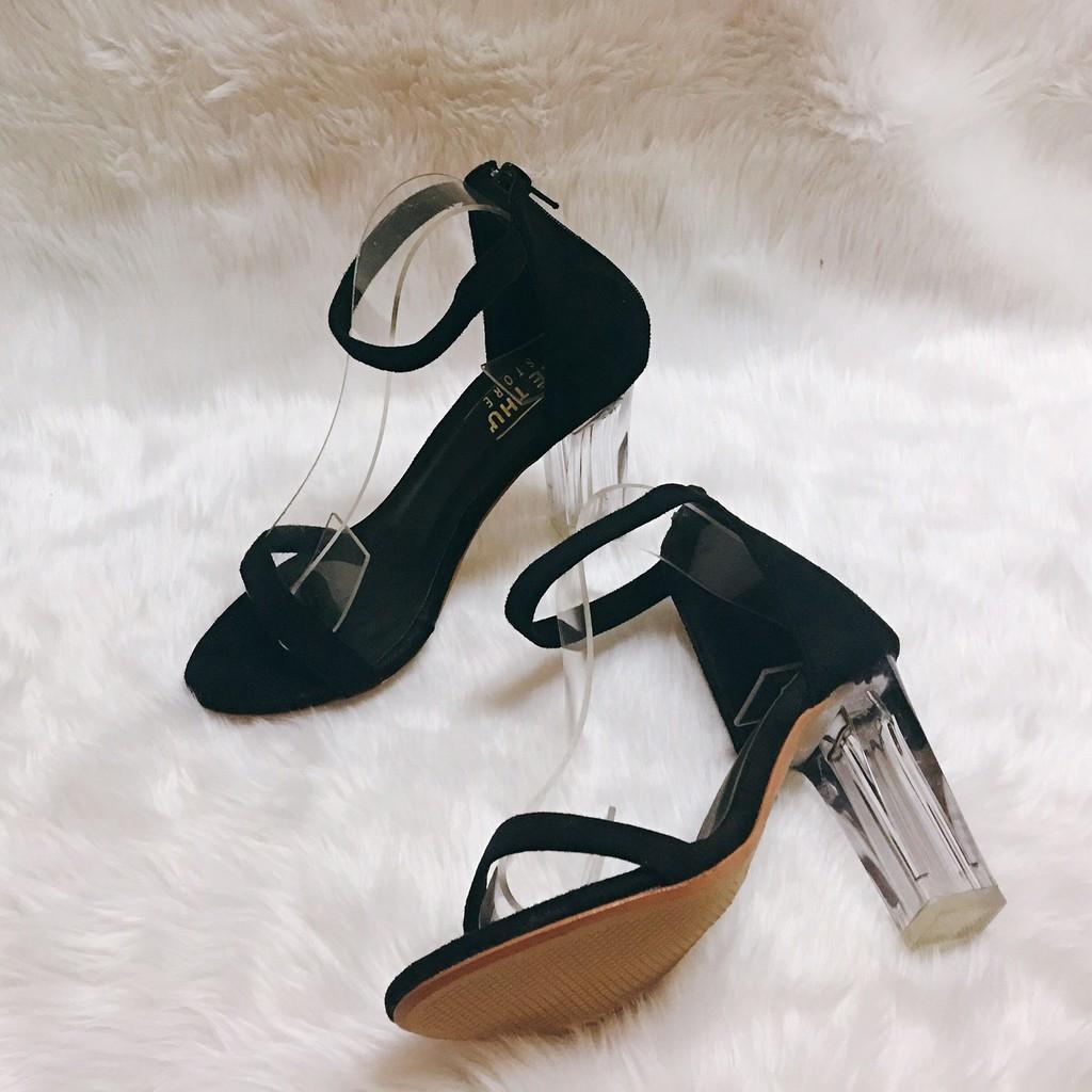 Giày cao gót 9 phân quai mảnh gót trong dây kéo LT