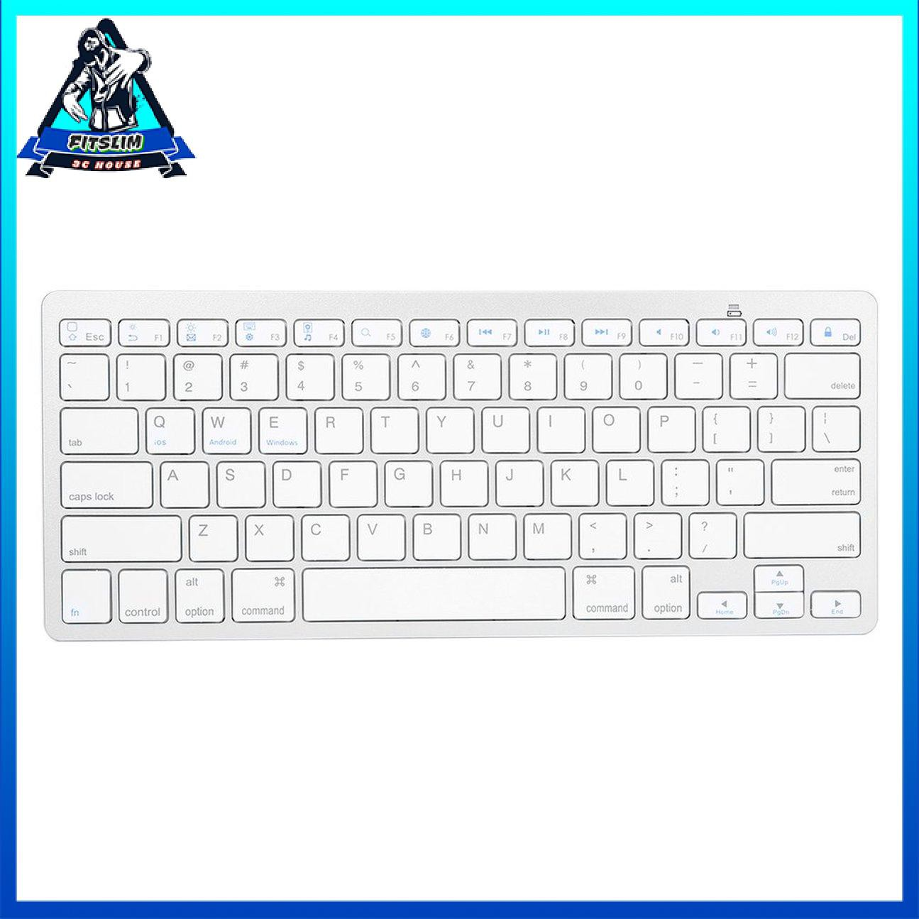 Bàn phím không dây siêu mỏng màu bạc cho không khí cho ipad Mini cho Mac