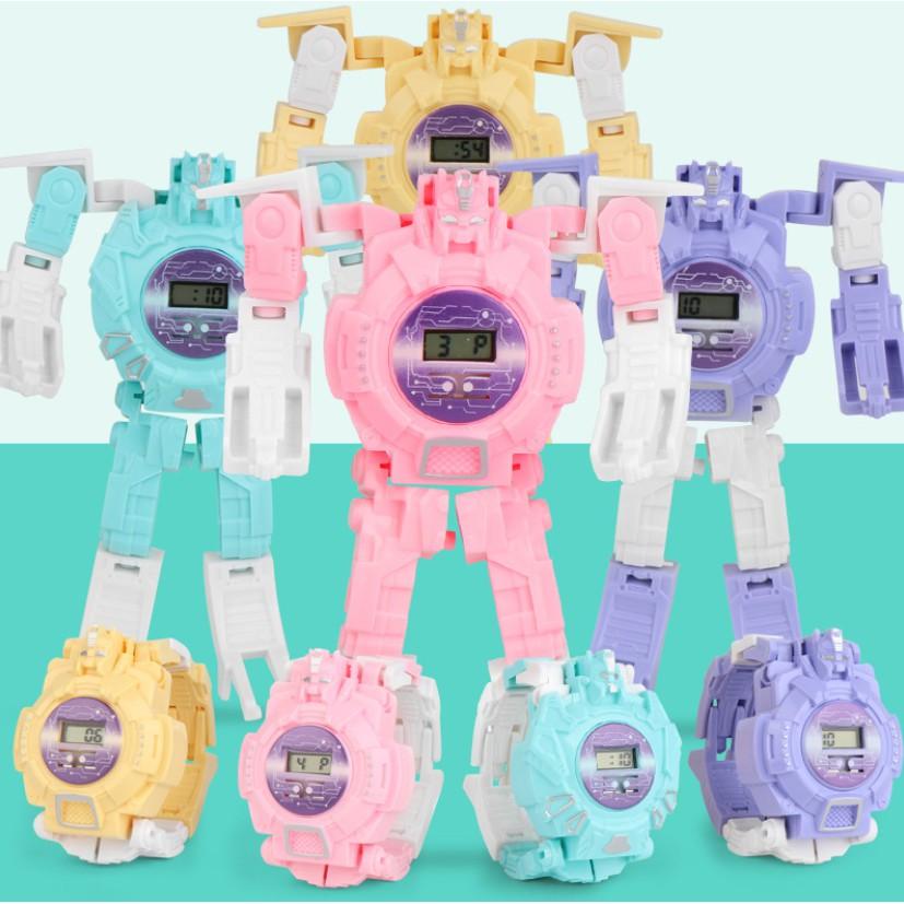 Đồng hồ điện tử trẻ em biến hình robot cực độc, mẫu mới nhất, thích hợp bé từ 3 tuổi trở lên, fullbox