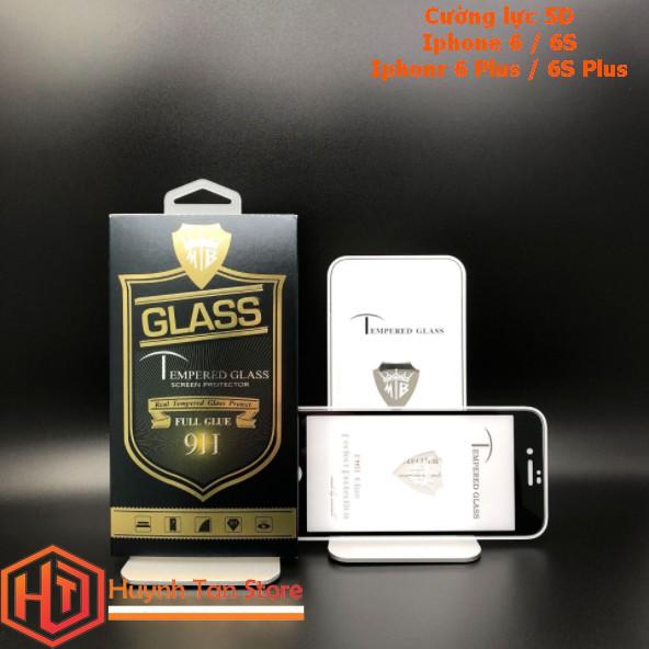 Cường lực 5D Iphone 6 / 6S full toàn màn full keo ( tặng kèm keo chống hở mép màn)