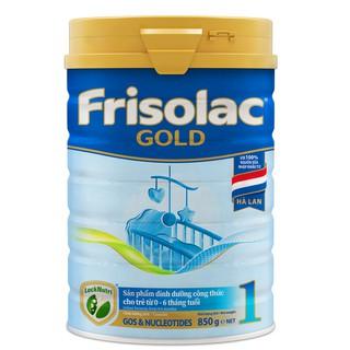 MẪU MỚI 850G Sữa bột Frisolac gold 1 900g date mới thumbnail