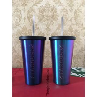 Ly Cold Cup Giữ Nhiệt Starbucks Galaxy Kèm Ống Hút B234