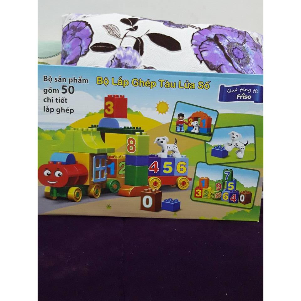 bộ đồ chơi lego đoàn tàu lắp ráp