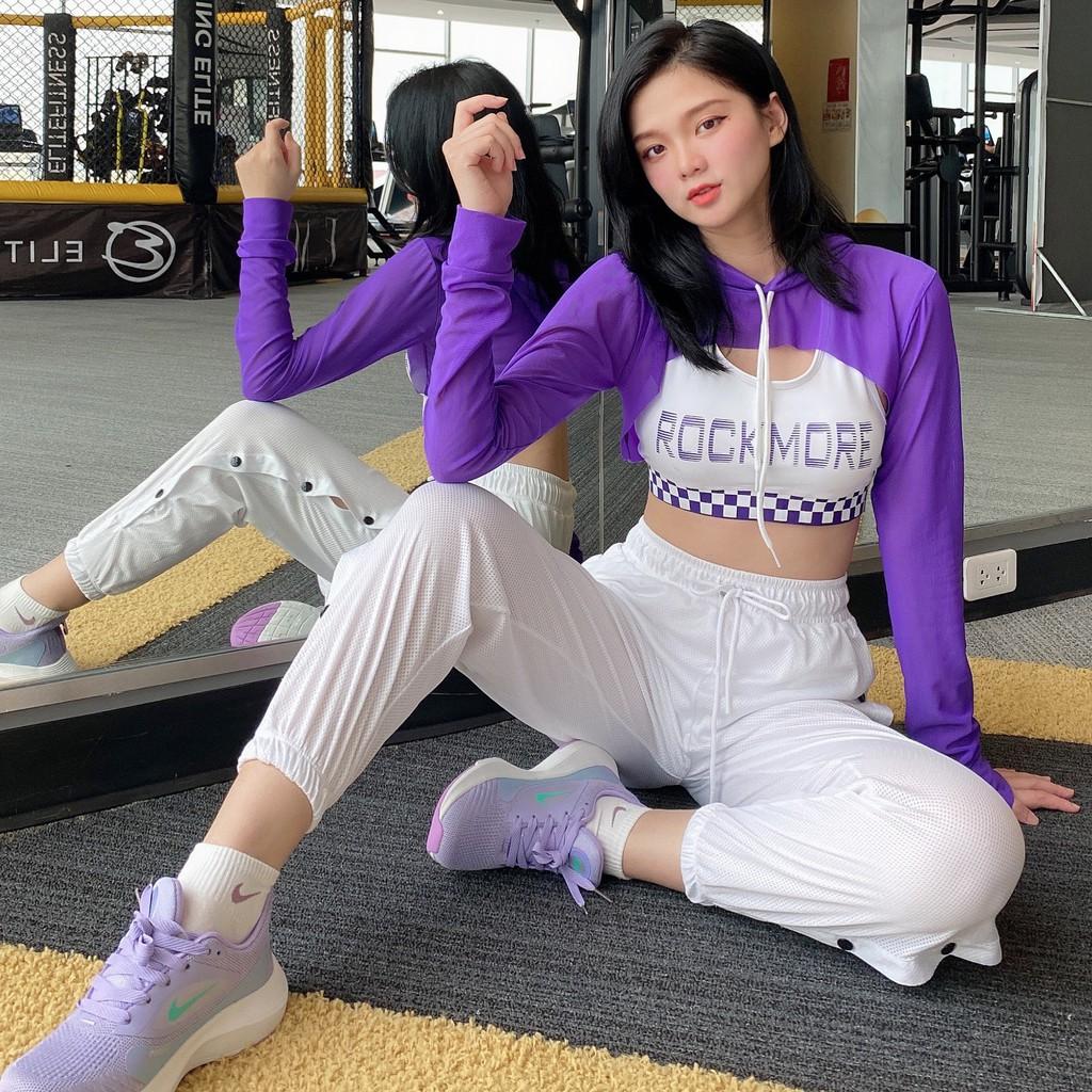 Mặc gì đẹp: Năng động với Áo tập Zumba, Gym, Yoga, thể dục nữ - áo lưới có mũ