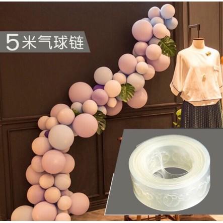 Dây kết nối bong bóng trang trí sinh nhật (dài 5m, 100 lỗ gài)