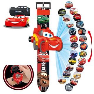 Đồng hồ điện tử đeo tay chiếu 24 hình 3D Projector Watch Cars McQueen thumbnail