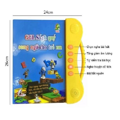 Sách nói song ngữ Anh Việt cho bé siêu rẻ