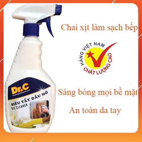 [Tẩy sạch bếp] Làm sạch xoong nồi chảo vật dụng nhà bếp chỉ 1 lần Dung dịch tẩy rửa an toàn Dr.C - 500ml