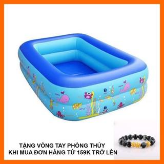 [Tặng vòng phong thủy với đơn hàng >159k] Bể bơi 2 tầng hình chữ nhật 1,2m