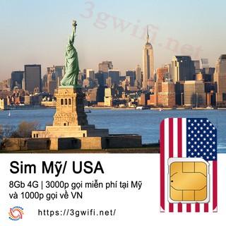 SIM MỸ, Sim 3G 4G Du Lịch Quốc Tế Sahaha