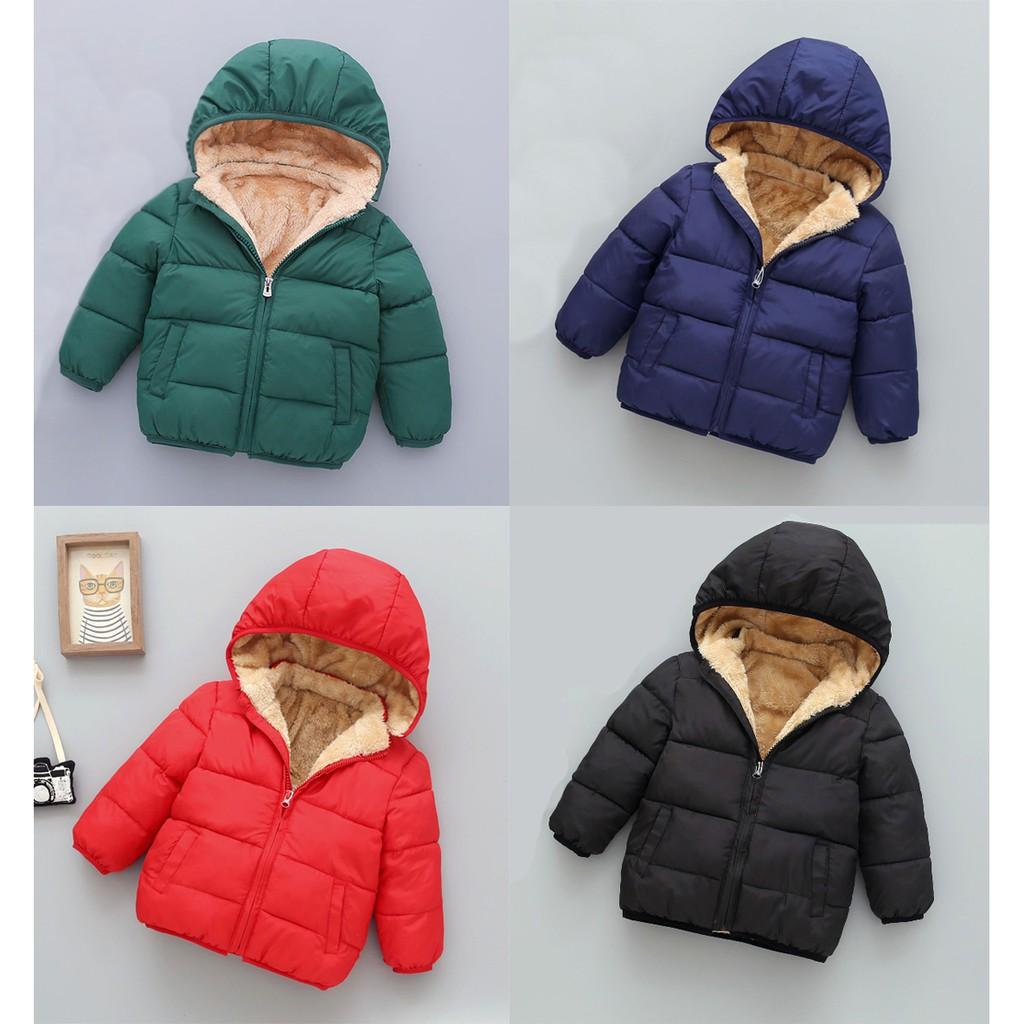Áo khoác lông cừu BEBELE siêu ấm siêu nhẹ dành cho bé trai bé gái