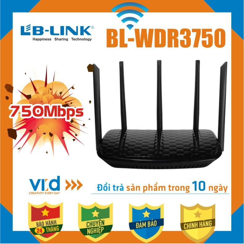 [BIG SALE].Bộ Phát Sóng Wifi XUYÊN TƯỜNG LB-LINK 11AC 750Mbps BL-WDR3750 - Sản phẩm chính hãng - Bảo hành 24 tháng !!!
