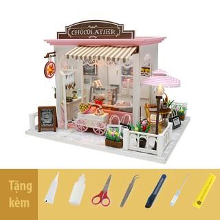 Nhà búp bê lắp ghép Chocolate Cake and Coffee Shop C007Z