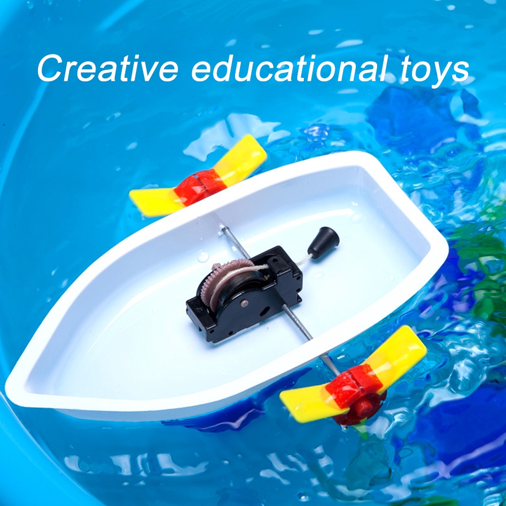 Science Kit Education Gift Kids Boat DIY Children Assemble Construction Toy
