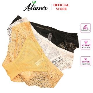 Combo 3 quần lót nữ ren hoa, phối lưới cao cấp Atuner QL016, kiểu dáng gợi cảm, ngọt ngào, ren mềm mại thumbnail