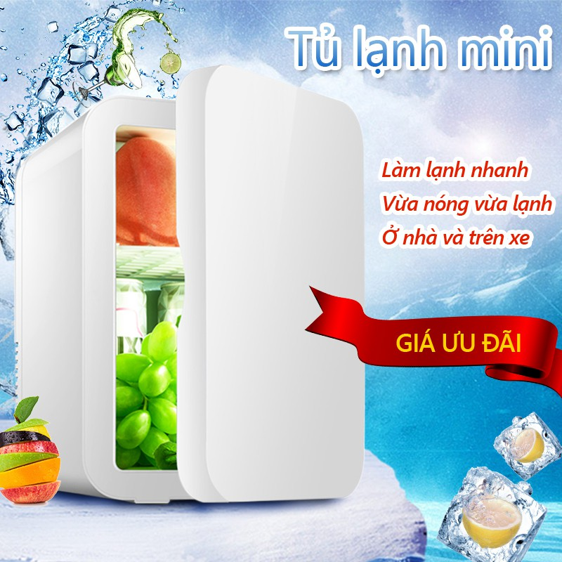 BE101 Tủ lạnh mini 8L dùng trên xe oto hoặc gia đình, vừa làm lạnh vừa làm ấm được topsmarket898