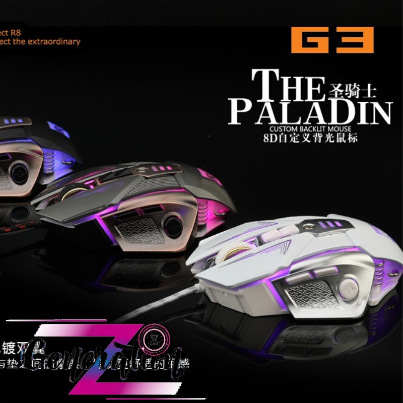 CHUỘT QUANG LED R8 G3 - MOUSE LED R8 (G3)