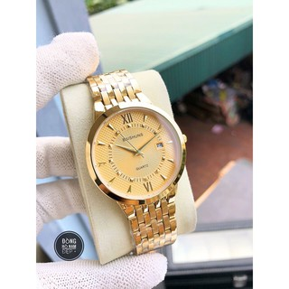 đồng hồ nam đẹp Baishuns BS033 dây vàng chống nước chống xước,tặng kèm vòng may mắn