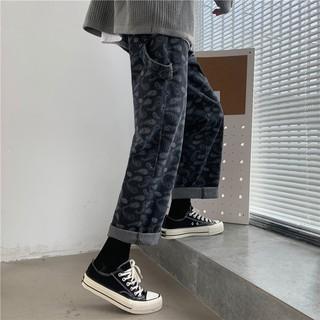 Hình ảnh Quần Jeans Suông Paileys unisex N7 Basic nam nữ ống rộng oversize phong cách Hàn Quốc ulzzang-4