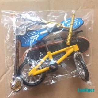 【Lanfiger】Scooter Children's Educational Toys Finger Scooter Bike Fingerboard Skateboard