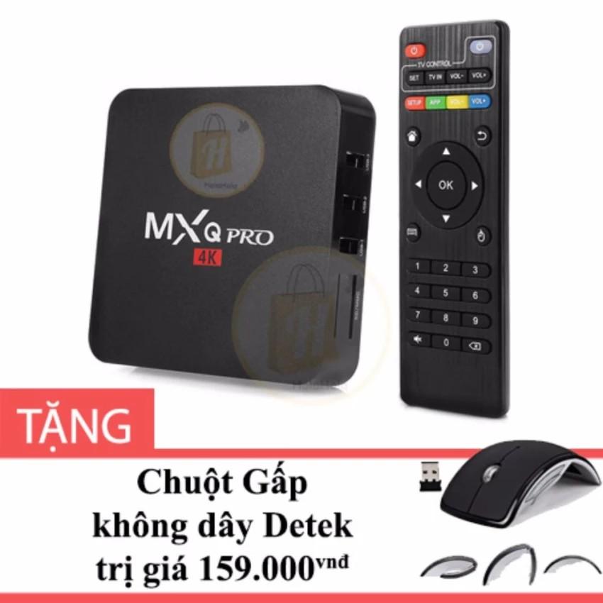 Android TV Box MXQ Pro 4K màu Đen + Tặng Chuột Gấp không dây Detek - 2542245 , 670072740 , 322_670072740 , 629000 , Android-TV-Box-MXQ-Pro-4K-mau-Den-Tang-Chuot-Gap-khong-day-Detek-322_670072740 , shopee.vn , Android TV Box MXQ Pro 4K màu Đen + Tặng Chuột Gấp không dây Detek
