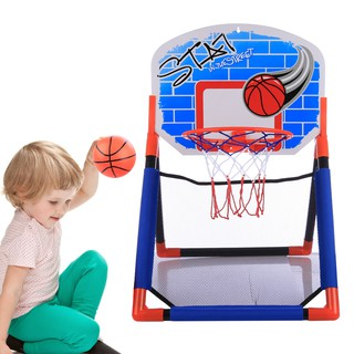 Children Sports Multifunctional Basketball Rack Indoor Outdoor Basketball Hoop Toys Set for 3-10 Years Old