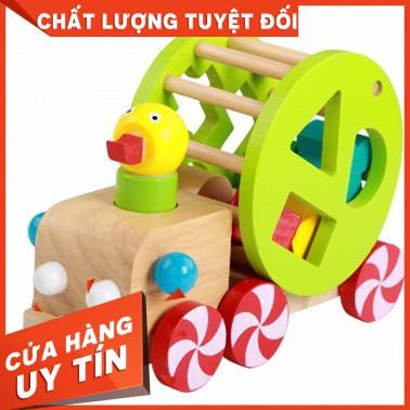 Xe vịt thả hình – Đồ chơi giáo dục an toàn cho bé