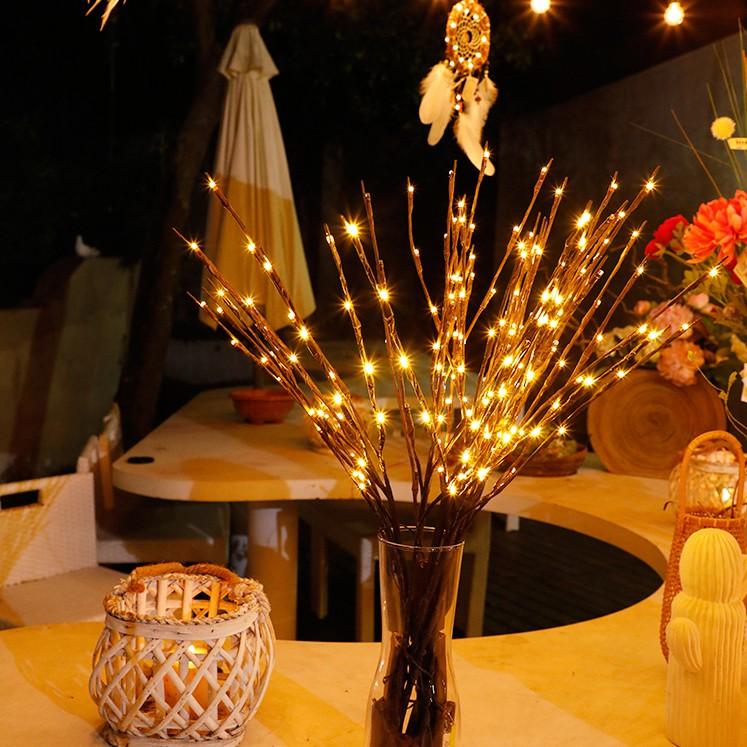 Combo Đèn Led Nhánh Cây 20 Đèn Led Trang Trí Nhà Cửa, Dễ Uốn Tạo Kiểu Decor Phòng Khách, Phòng Ngủ, Bàn Tiệc, Homestay