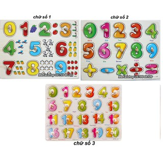 Bảng ghép hình có núm cầm nhiều mẫu dạy bé nhận biết (dành cho bé từ 1t)